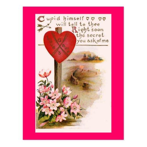 Cupid Know the Secret Postcard