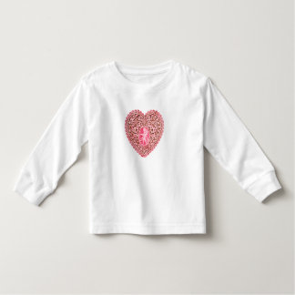 CUPID LACE HEART, Pink Red Toddler T-shirt