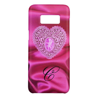CUPID LACE HEART SILK PINK FUCHSIA CLOTH MONOGRAM Case-Mate SAMSUNG GALAXY S8 CASE