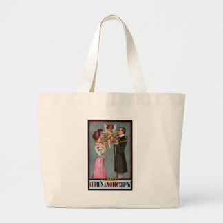 Cupid Links Couple with Chain Large Tote Bag