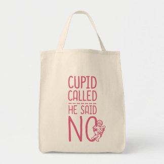 Cupid llamado que él dijo NO Bolsa Tela Para La Compra