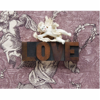 cupid love word small photo sculpture