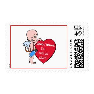 Cupid Missed Anti Valentines Stamps