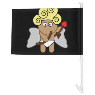 Cupid Missed Car Flag