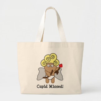 Cupid Missed Large Tote Bag