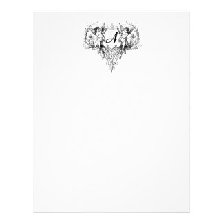 Cupid Monogram A Collection Stationery Letterhead