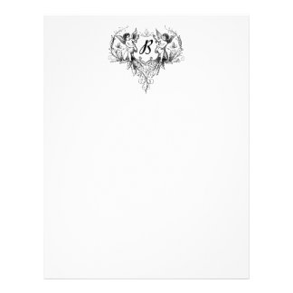 Cupid Monogram B Collection Stationery Letterhead