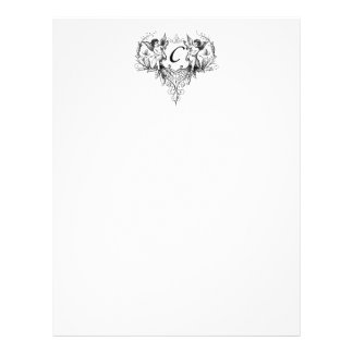 Cupid Monogram C Collection Stationery Letterhead