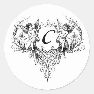 Cupid Monogram C Collection Stickers