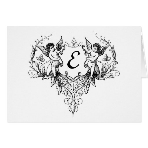 Cupid Monogram E Collection Cards
