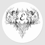 Cupid Monogram E Collection Sticker