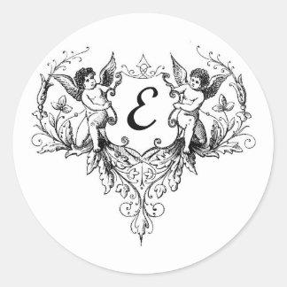 Cupid Monogram E Collection Sticker
