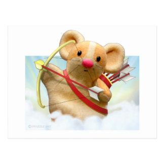 Cupid Mouse Postcard