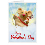 Cupid Mouse Valentine's Day Card