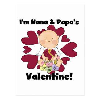 Cupid Nana del muchacho y camisetas de la tarjeta Tarjetas Postales