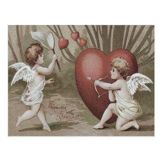 Cupid Net Heart Bow Arrow Postcard