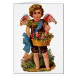 Cupid pasado de moda de la tarjeta del día de San