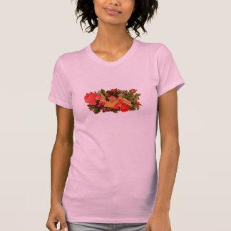 Cupid pasado de moda de la tarjeta del día de San Camiseta