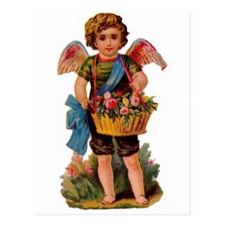Cupid pasado de moda de la tarjeta del día de San Postales