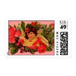 Cupid pasado de moda de la tarjeta del día de San Franqueo