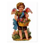 Cupid pasado de moda de la tarjeta del día de San  Tarjeta Postal