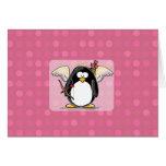 Cupid Penguin Card