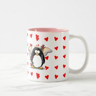 Cupid Penguin Mug