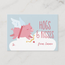 Cupid Pig Activity Classroom Valentine Note Card