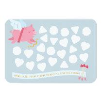 Cupid Pig Activity Classroom Valentine Postcard