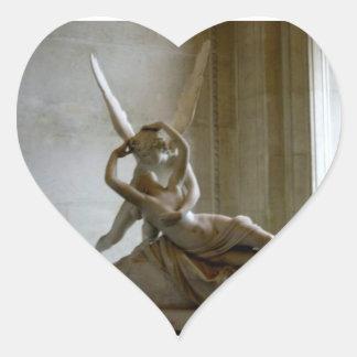 Cupid + Psique Calcomania De Corazon Personalizadas