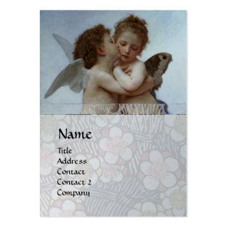 Cupid & Psyche as Children MONOGRAM Sapphire Large Business Cards (Pack Of 100)