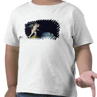 Cupid que es llevado por un par de los cisnes (ace camisetas