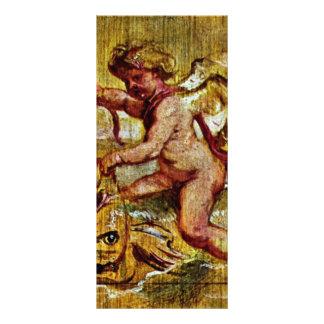 Cupid que monta un delfín de Rubens Peter Paul Diseños De Tarjetas Publicitarias