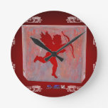 CUPID RED CUSTOMIZABLE PRODUCTS CLOCK