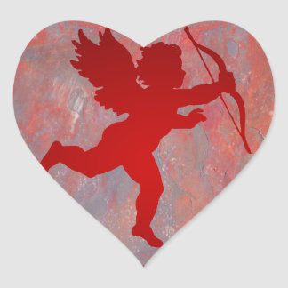 CUPID RED CUSTOMIZABLE PRODUCTS HEART STICKER