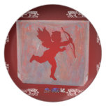 CUPID RED CUSTOMIZABLE PRODUCTS PLATES