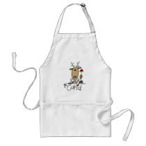 Cupid Reindeer Christmas Tshirts and Gifts Adult Apron
