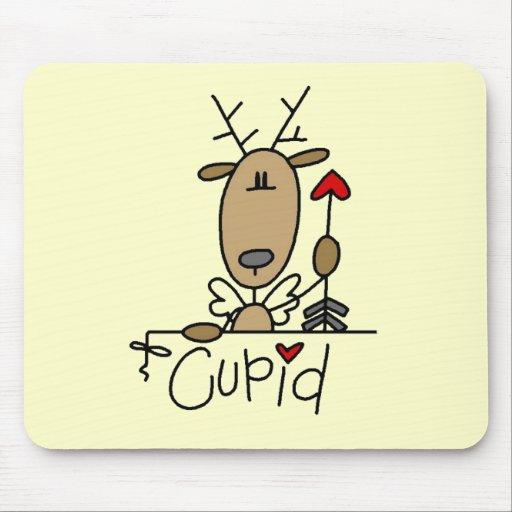 Cupid Reindeer Christmas Tshirts and Gifts Mouse Pad