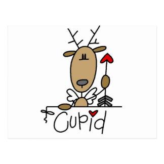 Cupid Reindeer Tshirts and Gifts Postcard