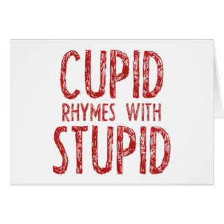 Cupid Rhymes With Stupid Card