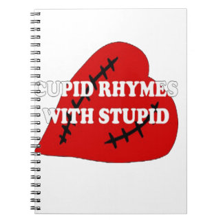 Cupid Rhymes With Stupid Spiral Notebook