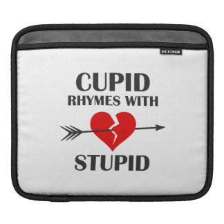 Cupid Rhymes With Stupid Valentines Day iPad Sleeve