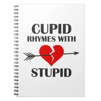 Cupid Rhymes With Stupid Valentines Day Notebook