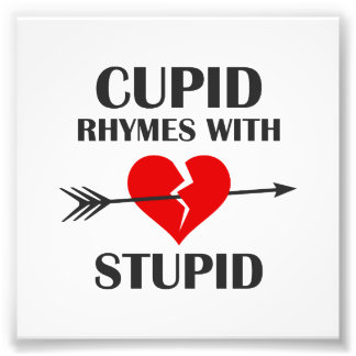 Cupid Rhymes With Stupid Valentines Day Photo Print