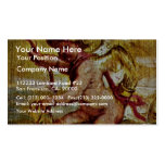 Cupid Riding A Dolphin By Rubens Peter Paul Business Card Template