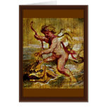 Cupid Riding A Dolphin By Rubens Peter Paul Card