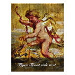 Cupid Riding A Dolphin By Rubens Peter Paul Flyer Design