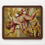 Cupid Riding A Dolphin By Rubens Peter Paul Mouse Pad