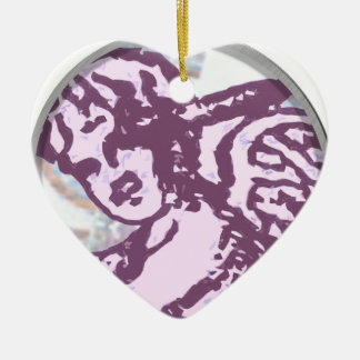 cupid round Double-Sided heart ceramic christmas ornament