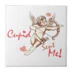 Cupid Sent Me - Valentine's Day Ceramic Tiles